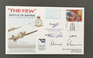 RAF - BATTLE OF BRITAIN COVER SIGNED BY AIR VICE MARSHAL JOHNNIE JOHNSON.