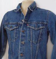 Levis Youth Button Up Blue Denim Trucker Jacket 100% Cotton 74704 Size 15