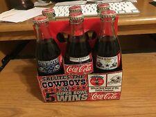 Coca-Cola Dallas Cowboys 5 Times Super Bowl Champions Six (6) Coke Bottle Set