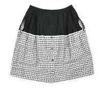 Womens Marimekko Poni Skirt Grey Printed Button Front Cotton Size 38 / M