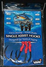Williamson Lures Single Assist Hooks SAH-LS 9/0 VMC Hook 200lb Short - 3 pack