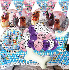 GIRL PUPPY DOG PALS Birthday Party BANNER BALLOON PLATE CUP SUPPLIES DECORATION