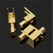 4pcs 20-8amg Gold plated spade Banana Fork plug for McIntosh Fisher eico Adaptateur