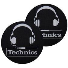 TECHNICS SLIPMATS coppia di panni sottodisco per giradischi (TECH HEADPHONE) NEW