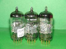 3 GE Mullard 6922 E88CC Gold Pin Vacuum Tubes Strong & Balanced