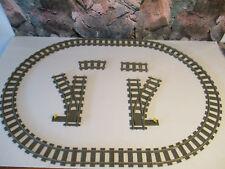 (D12.) LEGO 9V Schienen Gleise Weichen Gerade Gebogene 2867 4520 2865 4515 4531