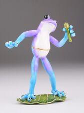 Frog Singer  trinket box by Keren Kopal Austrian Crystal  Faberge