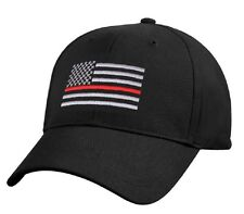 Thin RED Line USA Flag Ball Cap Fire Fighter Support Volunteer Fireman DC Hat