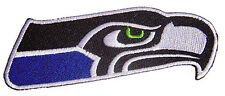 New Blue NFL Seattle Seahawks Football Logo embroidered iron on patch. (i4)