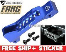 Strike Industries FANG BLUE Billet Aluminum Trigger Guard Skeleton Faster Load