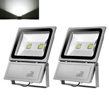 2X 100W LED Floodlight Cool White Outdoor Garden Lamps LED Security Light IP65