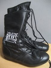 CLETO REYES SIZE 7 MEN'S LEATHER LACE UP HIGH TOP BOXING SHOES BLACK