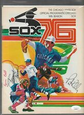 1976 Chicago White Sox Official Program Minnie Minoso Auto JSA COA Pat Kelly