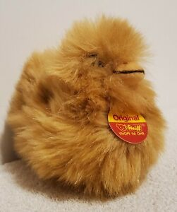 """Steiff Duckling, Beige with Squeaker, 073717, Woven Fur, 1992, 5"""", Tags Attached"""