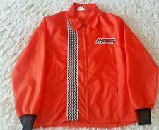 Mens Vintage Grey Rock Brake Products Orange Nylon Zip Jacket Racing Street Wear