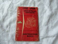 1958 Ford industrial engine operator's instruction book manual