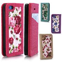 Rose Flower Wallet Magnetic Back Flip Case Cover for Apple iPhone 4 4s