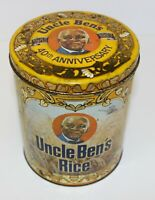 Vintage Uncle Ben's Rice 40th Anniversary Limited Edition Tin Canister 1943-1983