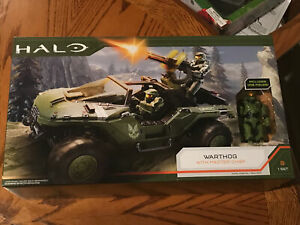 """WORLD OF HALO INFINITE Warthog With 4"""" Master Chief Figure WICKED COOL TOYS 2020"""