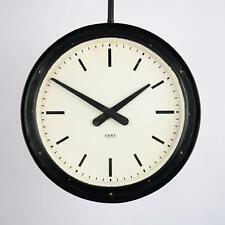 VINTAGE Gents of Leicester Double Sided Railway Platform Clock 2 Foot Diameter