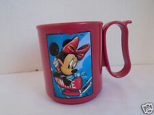Vintage Tupperware Disney Minnie Mouse 10oz Plastic Coffee Cup