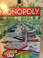 NEW-Monopoly Grab & Go Family Adults Kids Party Travel Game