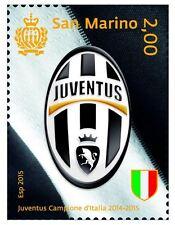 Francobollo JUVE JUVENTUS Campione D'Italia 2014/2015 Scudetto San Marino 2015