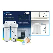 Stefani Undersink Water Filter System Twin Stage Premium inc Warranty