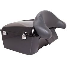 Black king size trunk CVO Style for Harley Tour pak pack Road King Electra glide
