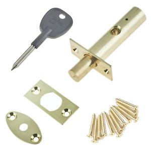 DOOR RACK BOLT Mortice Dead Lock Star Key EXTRA Security CHROME BRASS BLACK +Key