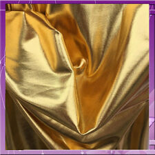 4 WAY STRETCH METALLIC GOLD PLEATHER 58 INCHES WIDE FABRIC SOLD BY THE YARD