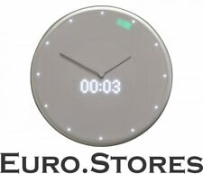 Glance Clock, smart wall clock with LED display, silver NEW