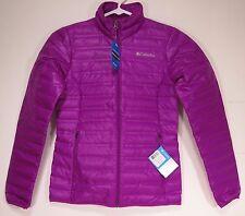Columbia Women's Flash Forward Down Jacket, Bright Plum Medium New with Tags