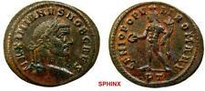 278RK17) Galerius as Caesar (295-295 AD) AE Follis, 9.41 grms, Ticinum VF
