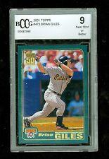 Brian Giles 2001 Topps Baseball Card #473 Pirates Beckett Graded BCCG 9 NM+
