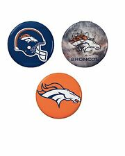 Denver Broncos Button Set (3) 1 1/4''