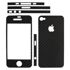 adesivo in fibra di carbonio black nero iPhone 4 4S