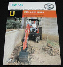 KUBOTA U25 U25S SUPER SERIES ZERO TAIL SWING COMPACT EXCAVATOR CATALOG BROCHURE