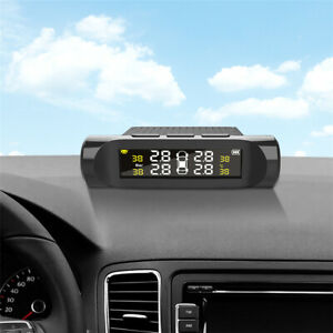 With 4Pcs External Sensors Car Wireless TPMS LCD Tire Pressure Monitoring System