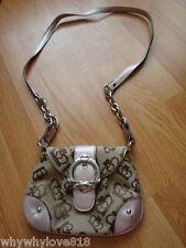 Kathy Van Zeeland brown and pink small cross body handbag purse