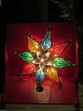 Holiday Time Light Up Tree Topper Star, Multi Color Approximately 8 1/2 inches