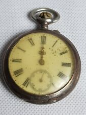 Antique Remontoir Cylindre 10 Rubis Pocket Watch For Repairs