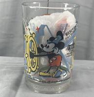 McDonald's Walt Disney World 100 Years Of Magic Glass Cup Mickey Donald Snow Wht