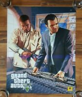 Grand Theft Auto 5 Pre-Order Double Sided Promo Poster 2013 Rockstar Games GTA5