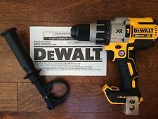 "New DeWalt 20 Volt 20v Max XR Brushless Cordless 1/2"" Hammer Drill/Driver DCD996"