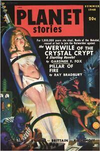 PLANET STORIES science fiction VINTAGE COMIC BOOK COVER POSTER unique 24X36