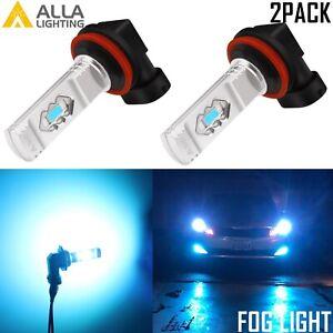Alla Lighting H8 35-LED Cornering Light Fog Light Bulb 8000K,Light Blue,Ice Blue