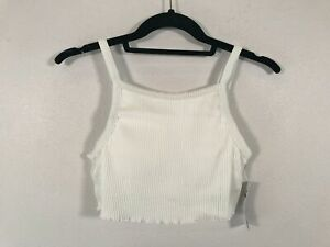 Women's Hollister Ribbed Cropped Bikini Top -Size X Small- White
