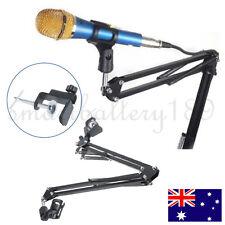 Flexible Studio Desk Mount Microphone Suspension Boom Scissor Arm Stand Cable AU