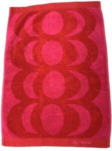 "Marimekko Maija Isola Red Kaivo Bath Guest Hand Towel 100% Cotton 17"" x 20"""